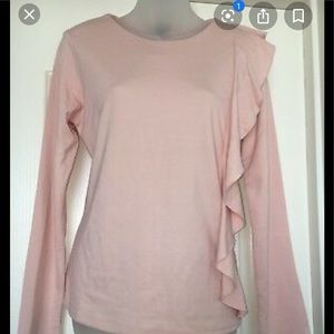 Halogen pink Long Sleeve Blouse